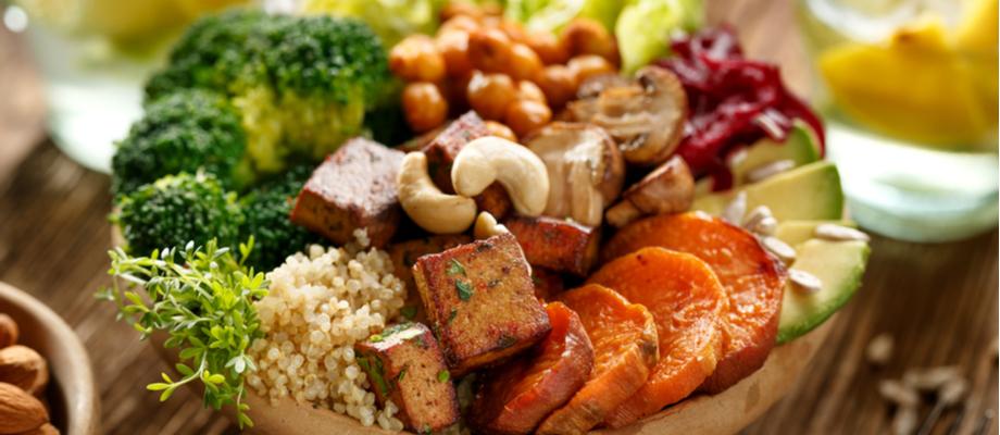 Bowl de alimentos basados en plantas
