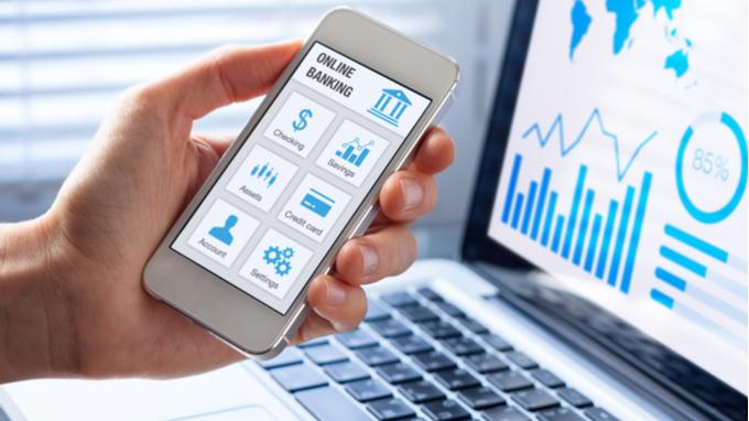 Aplicación de banca en línea.