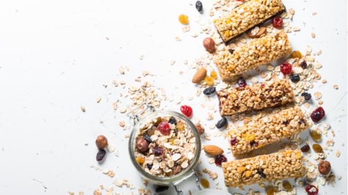Barritas de cereal y semillas.