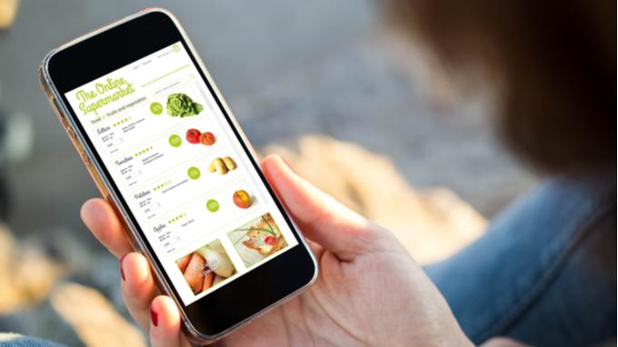 Aplicación móvil para compras de supermercado.